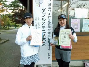 第59回あづま総合運動公園庭球場オープン記念ダブルステニス大会ビギナー女子の部優勝