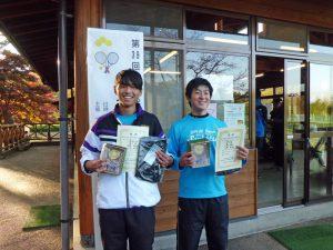 第59回あづま総合運動公園庭球場オープン記念ダブルステニス大会一般男子の部優勝