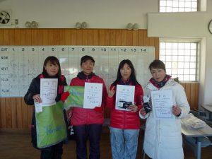第43回福島県ダブルステニス選手権大会40歳女子ダブルス入賞者