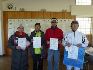 第43回福島県ダブルステニス選手権大会45歳男子ダブルス入賞者