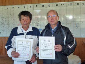 第43回福島県ダブルステニス選手権大会60歳男子ダブルス入賞者