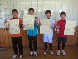 第36回福島県春季選抜ジュニアシングルス選手権大会U12男子入賞者