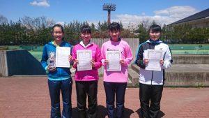第34回福島県春季ジュニアシングルステニス選手権大会U16女子入賞者