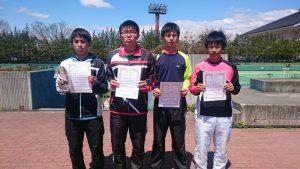 第34回福島県春季ジュニアシングルステニス選手権大会U16男子入賞者