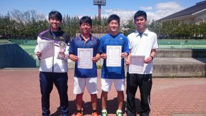 第34回福島県春季ジュニアシングルステニス選手権大会U18男子入賞者