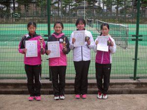 第31回春季小学生テニス選手権大会女子入賞者