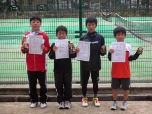 第31回春季小学生テニス選手権大会男子入賞者