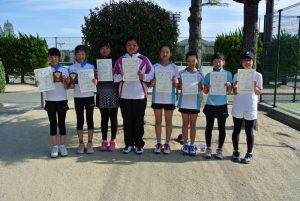 第34回福島県春季ジュニアテニス選手権大会U12ダブルス女子入賞者