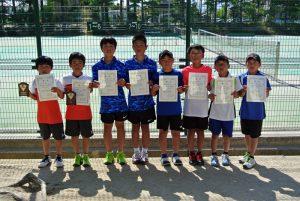 第34回福島県春季ジュニアテニス選手権大会U12ダブルス男子入賞者