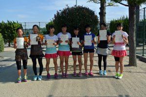 第34回福島県春季ジュニアテニス選手権大会U14ダブルス女子入賞者