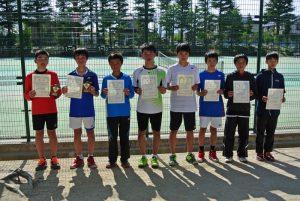 第34回福島県春季ジュニアテニス選手権大会U14ダブルス男子入賞者