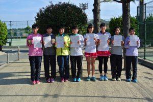 第34回福島県春季ジュニアテニス選手権大会U16ダブルス女子入賞者
