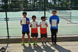 第34回福島県春季ジュニアテニス選手権大会U12シングルス男子入賞者
