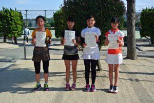第34回福島県春季ジュニアテニス選手権大会U14シングルス女子入賞者