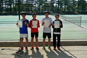 第34回福島県春季ジュニアテニス選手権大会U14シングルス男子入賞者
