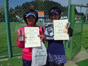 第59回オノヤ杯福島県春季ダブルステニス選手権大会40歳以上女子優勝者