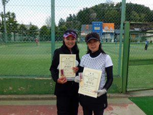 第59回オノヤ杯福島県春季ダブルステニス選手権大会45歳以上女子優勝者