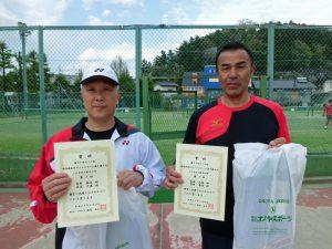 第59回オノヤ杯福島県春季ダブルステニス選手権大会50歳以上男子優勝者