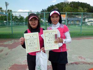 第59回オノヤ杯福島県春季ダブルステニス選手権大会55歳以上女子優勝者