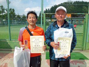 第59回オノヤ杯福島県春季ダブルステニス選手権大会55歳以上男子優勝者
