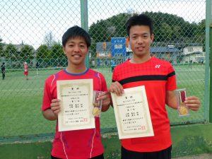 第59回オノヤ杯福島県春季ダブルステニス選手権大会一般男子優勝者
