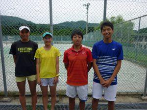 第72回国民体育大会テニス競技少年選手選考代表者