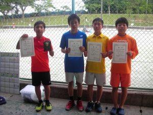 日植杯'RSK17全国選抜ジュニアテニス選手権福島県予選男子入賞者
