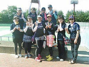第36回FCT若松杯福島県女子テニス地区対抗戦準優勝チーム