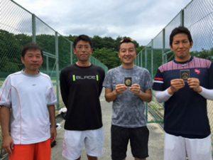 第70回福島県総合体育大会テニス競技35歳男子ダブルス入賞者