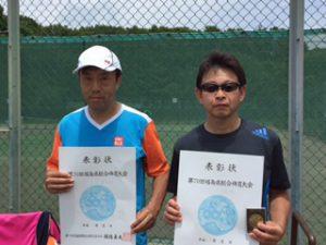 第70回福島県総合体育大会テニス競技50歳男子シングルス入賞者