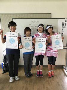 第70回福島県総合体育大会テニス競技55歳女子ダブルス入賞者