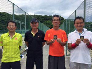 第70回福島県総合体育大会テニス競技55歳男子ダブルス入賞者