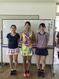 第70回福島県総合体育大会テニス競技成年女子シングルス・ダブルス入賞者