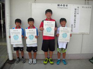 第70回福島県総合体育大会テニス競技スポーツ少年団の部小学生男子ダブルス入賞者3位