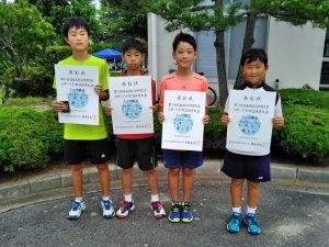 第70回福島県総合体育大会テニス競技スポーツ少年団の部小学生男子シングルス入賞者