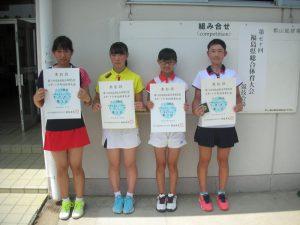 第70回福島県総合体育大会テニス競技スポーツ少年団の部中学生女子シングルス入賞者