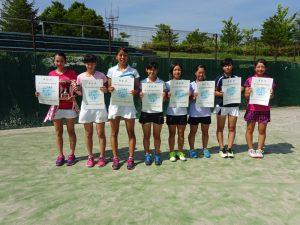 第70回福島県総合体育大会テニス競技少年の部女子Ⅰ部ダブルス入賞者