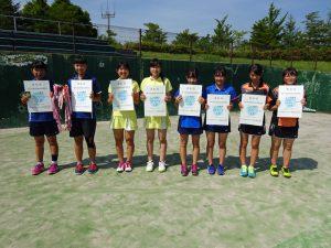 第70回福島県総合体育大会テニス競技少年の部女子Ⅱ部ダブルス入賞者