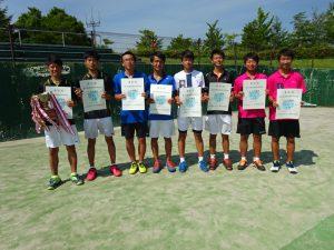 第70回福島県総合体育大会テニス競技少年の部男子Ⅰ部ダブルス入賞者