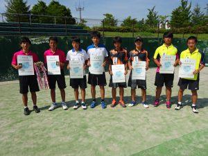 第70回福島県総合体育大会テニス競技少年の部男子Ⅱ部ダブルス入賞者