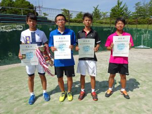 第70回福島県総合体育大会テニス競技少年の部男子Ⅰ部シングルス入賞者