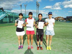 第31回福島県春季中学校テニス選手権大会シングルス女子入賞者