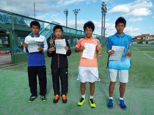 第31回福島県春季中学校テニス選手権大会シングルス男子入賞者