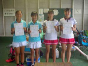 2017中牟田杯全国選抜ジュニアテニス選手権福島県予選女子ダブルス入賞者