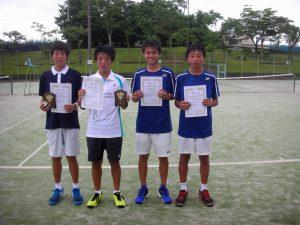 2017中牟田杯全国選抜ジュニアテニス選手権福島県予選男子ダブルス入賞者
