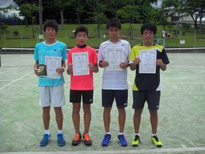 2017中牟田杯全国選抜ジュニアテニス選手権福島県予選男子シングルス入賞者