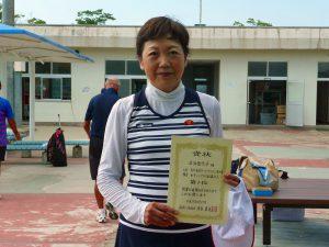 第8回福島オープンベテランテニス選手権大会女子シングルス60歳以上入賞者