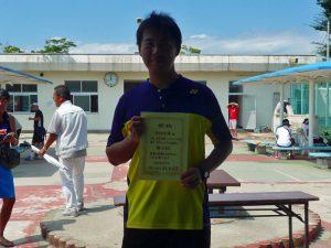 第8回福島オープンベテランテニス選手権大会男子シングルス40歳以上入賞者