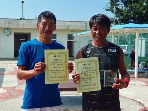 第8回福島オープンベテランテニス選手権大会男子シングルス45歳以上入賞者