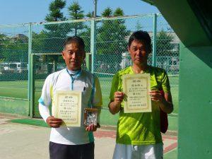 第8回福島オープンベテランテニス選手権大会男子シングルス50歳以上入賞者